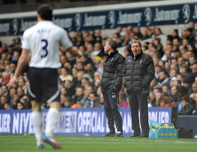 Harry Redknapp (right) kept faith with Bale amid reports linking him with Birmingham