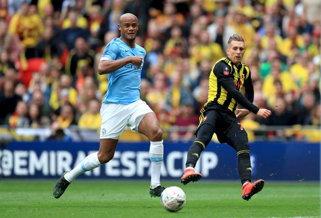 Kompany, left, had one of his easier afternoons at work