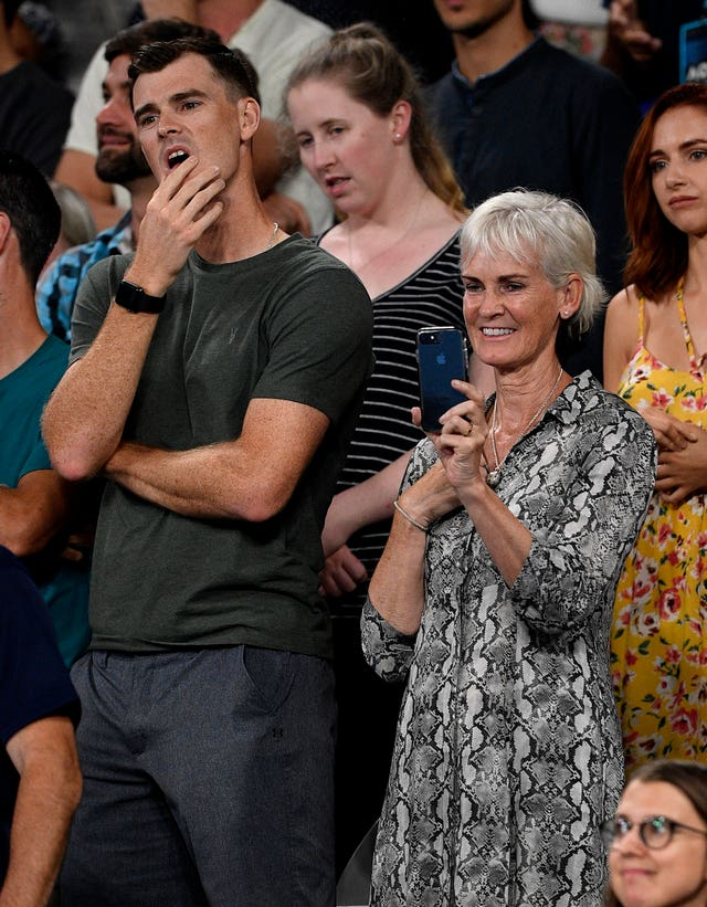 Jamie and Judy Murray were emotional throughout Andy's match in Melbourne