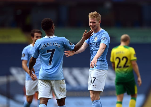 Kevin De Bruyne equalled Thierry Henry's Premier League assist record at the Etihad Stadium