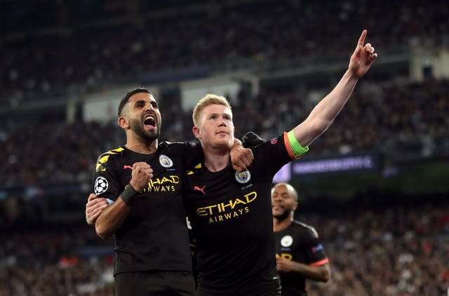 Kevin De Bruyne (right) scored the winner at the Bernabeu