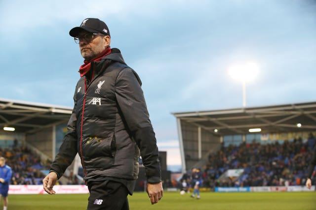 Jurgen Klopp's side could not beat League One Shrewsbury despite leading 2-0