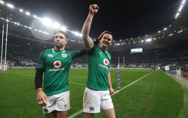 Conor Murray, left, and Johnny Sexton