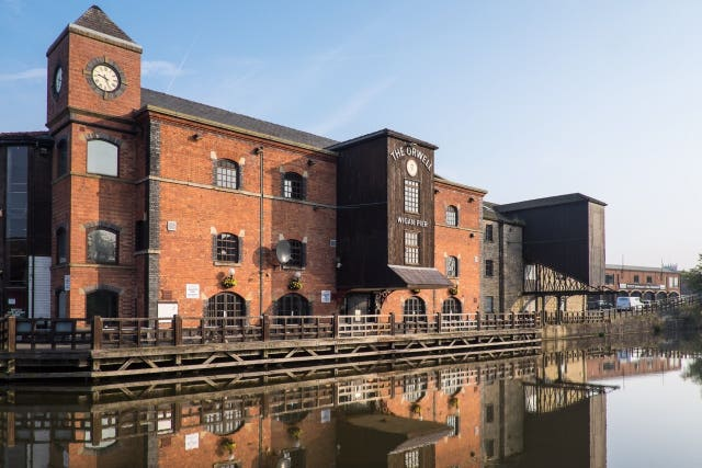 The Wigan Pier Quarter area (Wigan Council/PA)