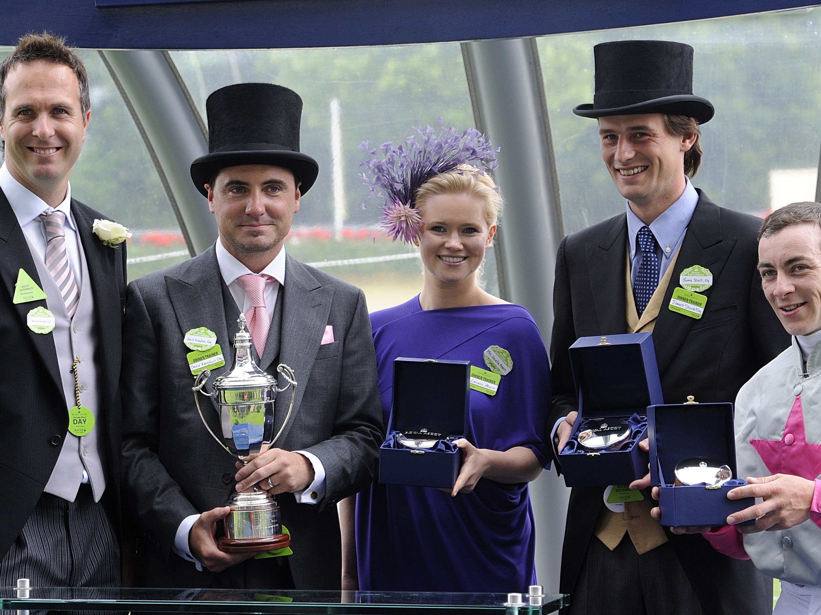 Fozzy Stack (second right) at Royal Ascot (Rebecca Naden/PA)
