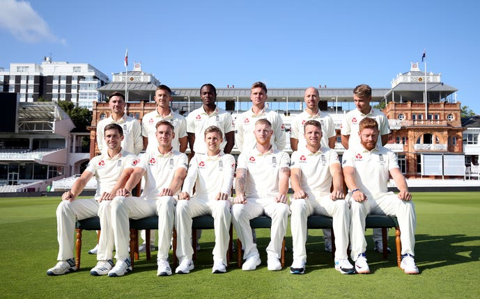 The England squad hoping to level the Ashes series at Lord's this week