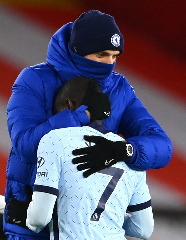 Thomas Tuchel and N'Golo Kante file photo