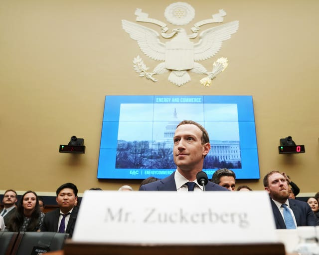 Facebook CEO Mark Zuckerberg arrives to give evidence (AP Photo/Andrew Harnik)