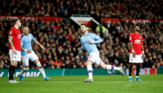 Silva scored a fine goal at Old Trafford