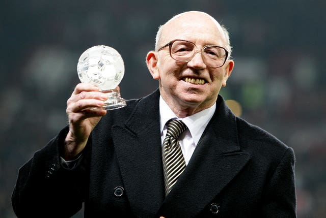 Nobby Stiles was suffering with dementia when he died earlier this year (Martin Rickett/PA)
