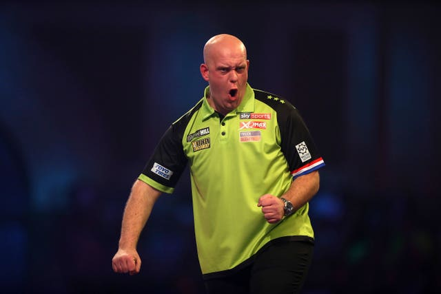 Defending champion Michael Van Gerwen reached the semi-finals of the PDC World Darts Championship