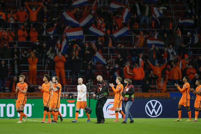 Holland won in front of supporters