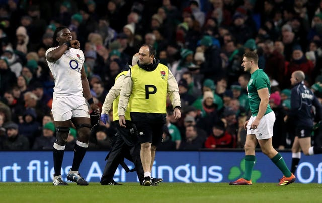 Maro Itoje was injured against Ireland in Dublin at the start of the Six Nations