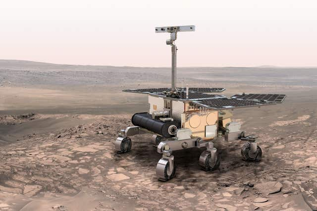 An artist's impression of the ExoMars rover.