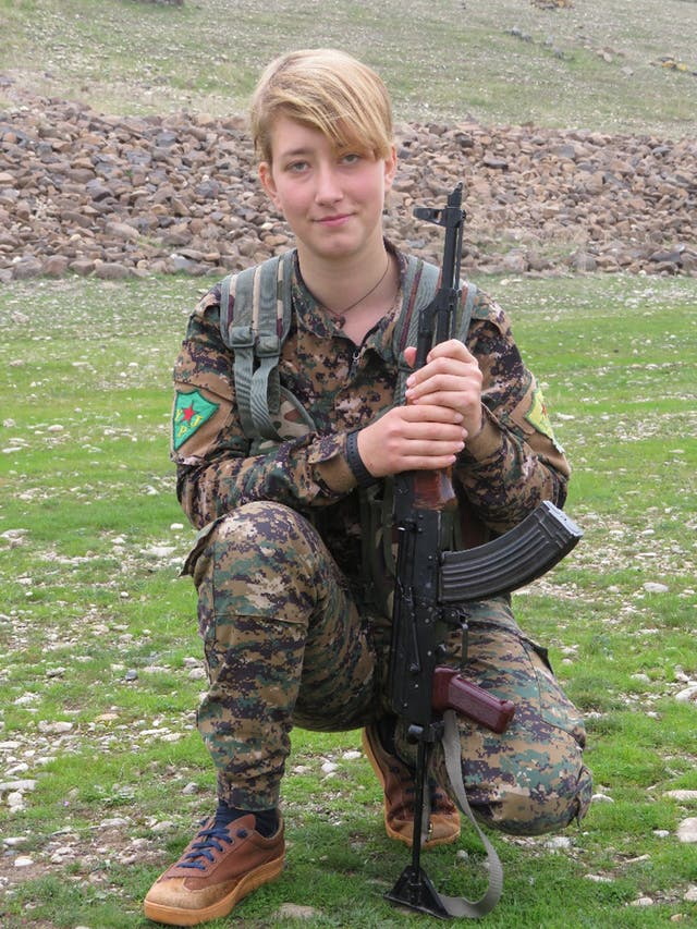 Anna Campbell was killed in a Turkish airstrike (YPJ/PA)