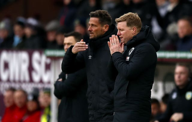 Eddie Howe, right, and Jason Tindall were long-term colleagues