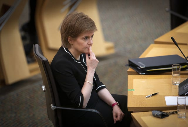 Nicola Sturgeon in Holyrood