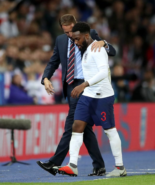 Tottenham's Danny Rose will link up with England and manager Gareth Southgate after going off with a groin problem against Cardiff