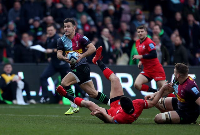 Danny Care scored the first of Harlequins six tries against Saracens