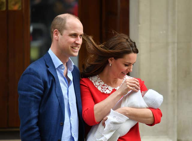 The Duke and Duchess of Cambridge and their newborn son (Dominic Lipinski/PA)