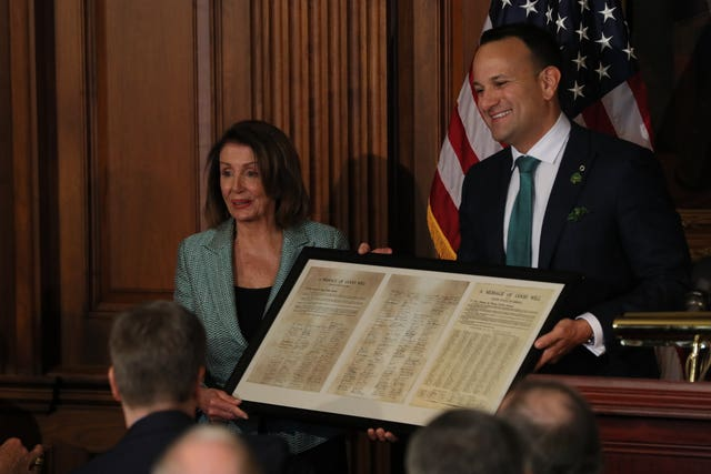 Nancy Pelosi and Leo Varadkar
