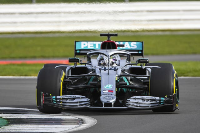 Lewis Hamilton got his first taste of the new Mercedes at Silverstone on Friday