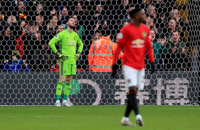 David De Gea, left, was at fault for Watford's opening goal