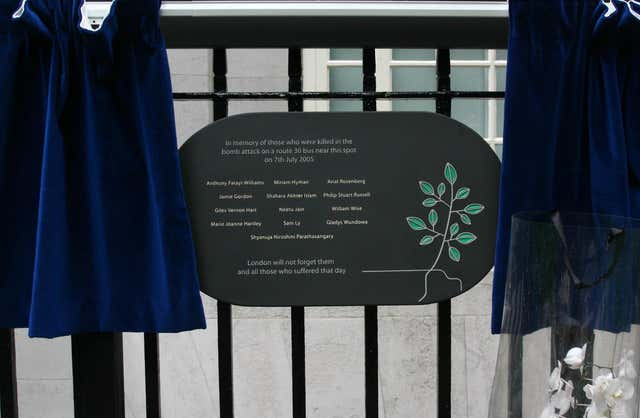 A memorial plaque stands in Tavistock Square (PA)