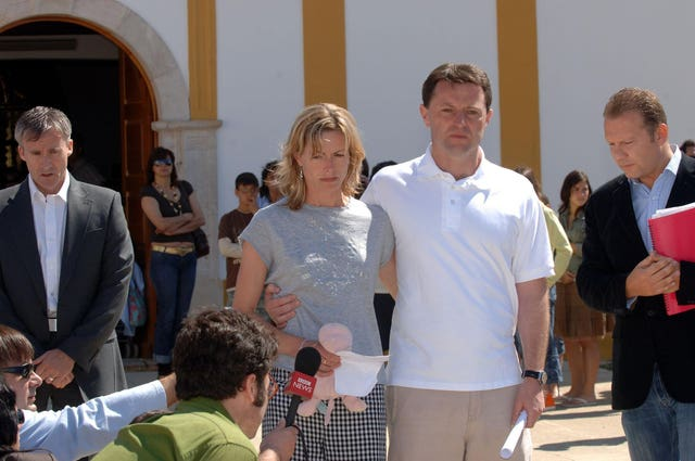 Kate and Gerry McCann in 2007