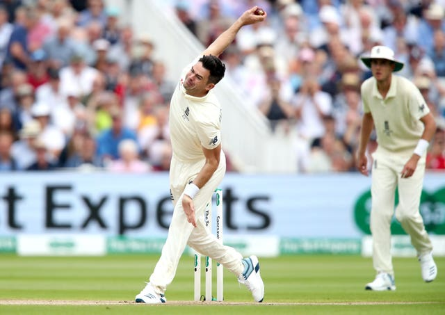 James Anderson is working his way back to fitness