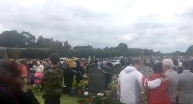 The scene in St Patrick's Cemetery, Dowdallshill in Dundalk