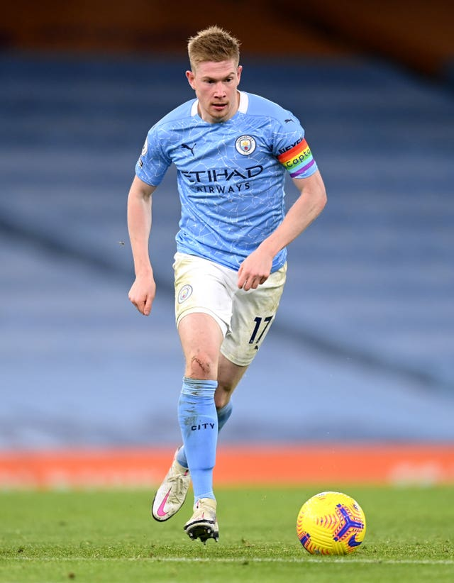 Kevin De Bruyne was among the City stars to sit out the Leeds contest