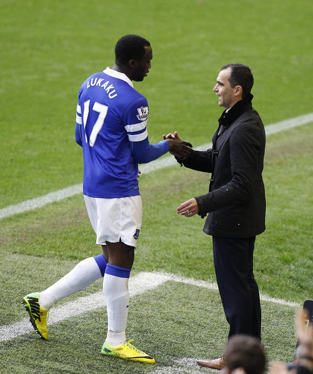 Roberto Martinez was Romelu Lukaku's coach at Everton and is now his boss with Belgium