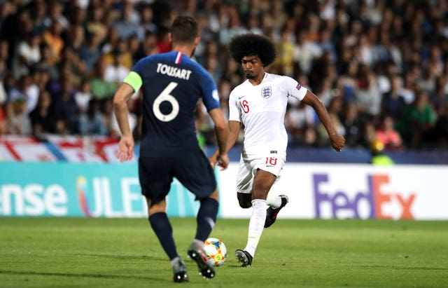 Hamza Choudhury was sent off as England lost to France