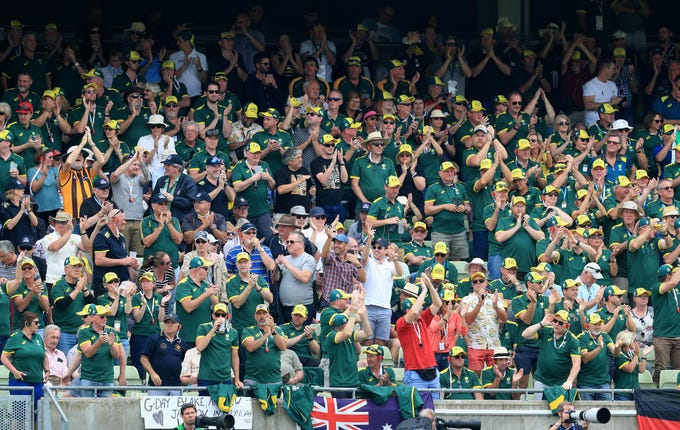 Australia fans had plenty to celebrate at Edgbaston