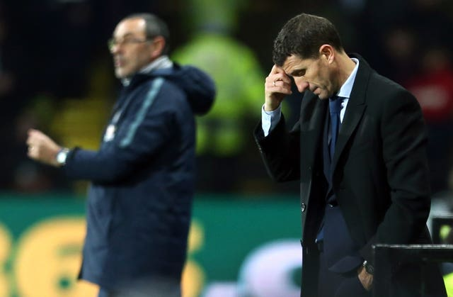 Javi Gracia, right, watched his side get beat at home