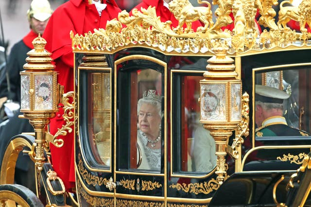 This Queen's Speech will be more low key than the one in October with cars used instead of carriages (Yui Mok/PA)