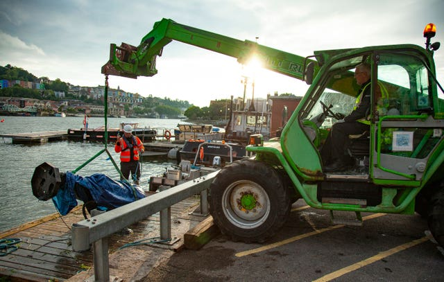 The statue was pulled from the harbour on June 11 (Bristol City Council/PA)