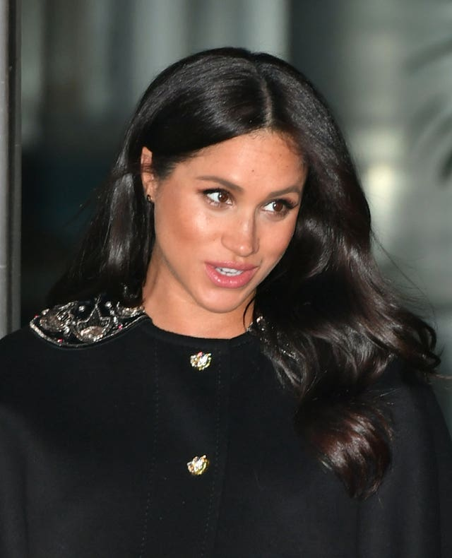 The Duchess of Sussex leaving New Zealand House in London