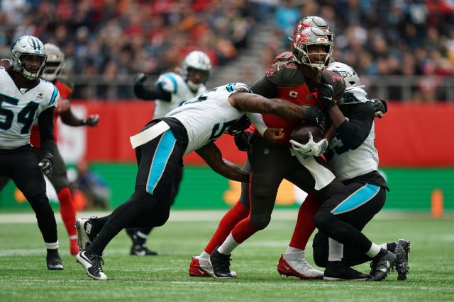 Quarterback Jameis Winston struggled for the Tampa Bay Buccaneers in London