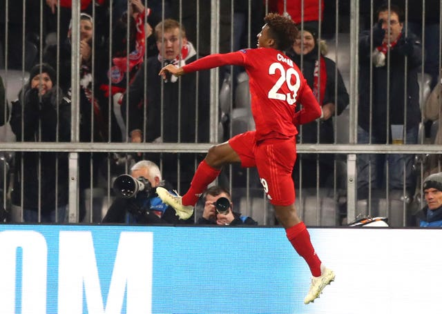 Kingsley Coman had an early goal to celebrate against Tottenham