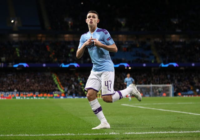 Phil Foden scored Manchester City's second goal against Dinamo Zagreb