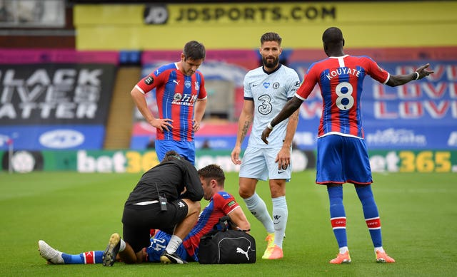 Gary Cahill was making his 27th appearance of the season for Crystal Palace