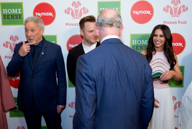 Other celebrity ambassadors attending included Sir Tom Jones, Olly Murs and Cheryl (Geoff Pugh/The Daily Telegraph/PA)