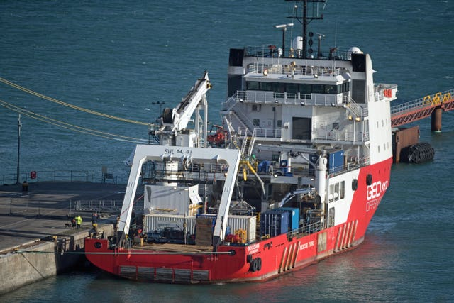 The Geo Ocean III specialist search vessel which recovered Emiliano Sala's body