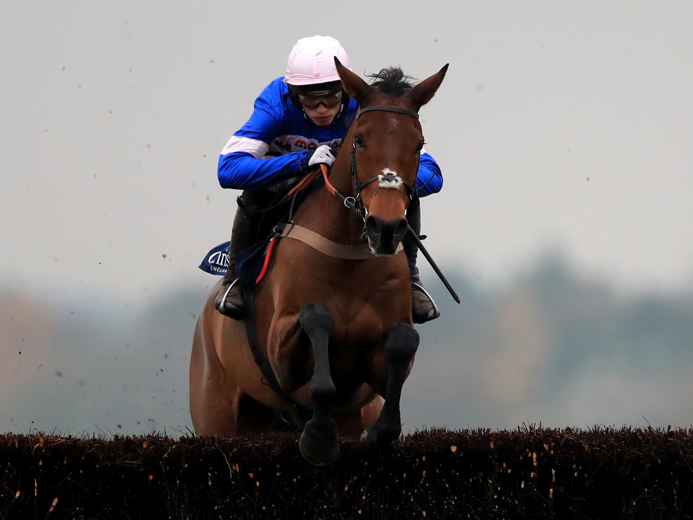 Cyrname runs in the bet365 Charlie Hall Chase at Wetherby (Simon Cooper/PA)