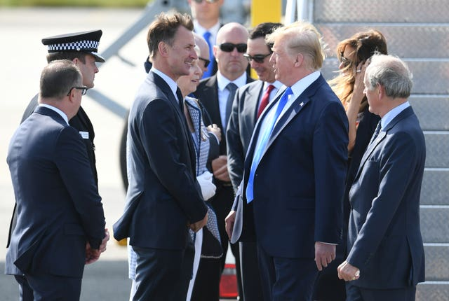 Donald Trump meets Jeremy Hunt
