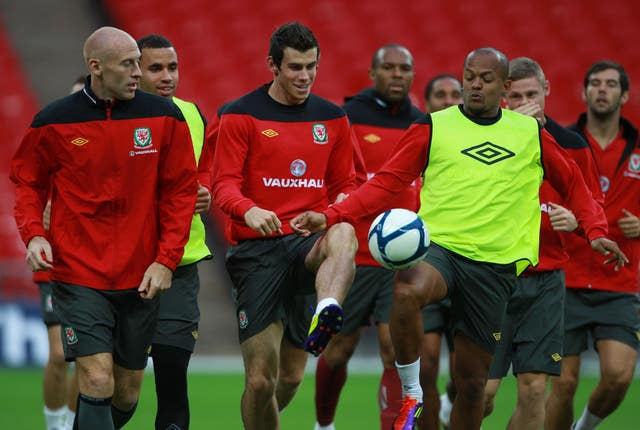 Soccer – UEFA Euro 2012 – Qualifying – Group G – England v Wales – Wales Training Session – Wembley Stadium