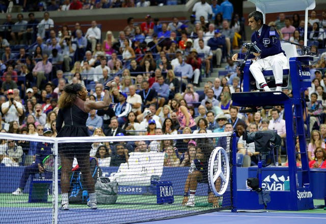 There were some unsavoury scenes on Arthur Ashe court after Serena Williams was docked a game