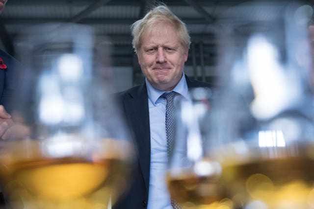 Boris Johnson sampled whisky in Moray